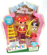 Mini Lalaloopsy Figure Doll Ember Flicker Flame #1 of Series 6 RARE Fire Hose
