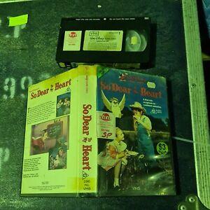So Dear to my heart Children Walt Disney PAL VHS Video Clamshell Ex-RENTAL