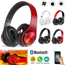 Wireless Bluetooth 5.0 Headphone Headset Noise Cancelling Over Ear Earmuff Mic