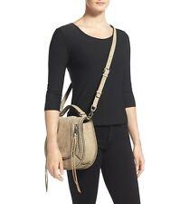 NWT $425+ Rebecca Minkoff VANITY Saddle Bag Suede Satchel Shoulder Bag Sandstone