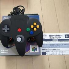 Nintendo 64 controller Bros Black Official N64 W/Box Manual Game Japan