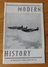 Modern History BBC Broadcasts to Schools Spring Term 1961