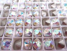 4 Crystal AB Swarovski Crystal Square Cushion Cut Stone 4470 10mm
