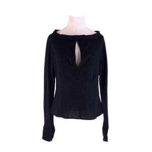 Gianfranco Ferre Tops Blouses Black Woman Authentic Used F1275