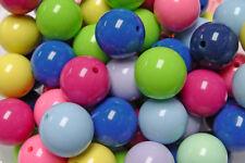 24mm Multi Colors Big Round Chunky Bubblegum Large Acrylic Craft Beads 20pc