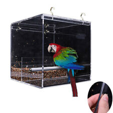 No-Mess Bird Feeder Parrot Integrated Clear Feeder for Small to Large Birds New