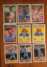 1988 Topps Philadelphia Phillies 9 Card Lot Mike Schmidt Steve Bedrosian