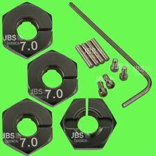 ► 1/10 ALU 7mm GRAU Radmitnehmer Rad Adapter 12mm Hex Sechskant Reifen Tuning