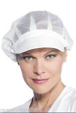 Cuffia Cappellino Bianco Alimentare In Rete e VISIERA DONNA per Cucina POSTA