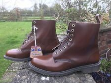 Dr Martens Pascal Brown Tan Boanil Leather Boots UK 8 EU42 1460 ENGLAND Vintage