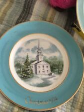 """Vintage Avon Christmas 1974 Collector'S Plate """"Country Church"""" Wedgwood"""