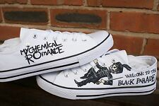 MY CHEMICAL ROMANCE inspired CUSTOM HAND PAINTED LOW TOPS. MADE TO ORDER