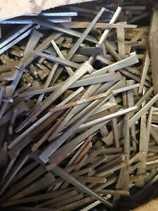 """Clasp Nails 4"""" New Old Stock Floor Board Nails"""