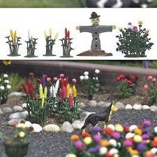 OO/HO Plantes & FLEURS - LUPINS, DAHLIAS & Scarecrow - Busch 1233 P3