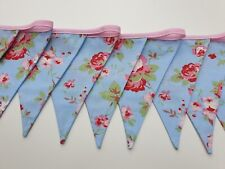 Floral Bunting Blue with Red Roses Cath Kidston Cotton Fabric Rosali Vintage