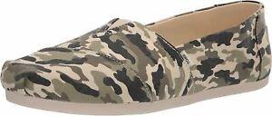 Toms Alpargata Olive Camouflage Womens Slip On Shoes