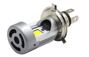 1 Ampoule H4 LED Turbo pour scooter moto 6000K Feux Croisement Plein phare 12V