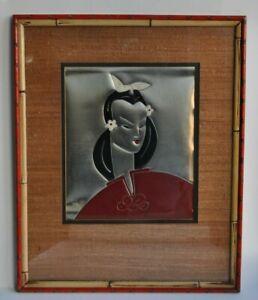 PACK - Tableau - Peinture huile sur métal -Asiatique - XXème