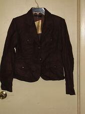 Zara Basic Short Safari Style 2-Button Wool Jacket  Juniors L  Brown  NWT
