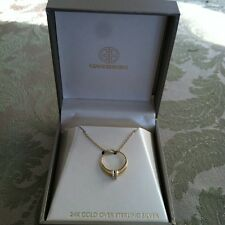 $80 GIANI BERNINI 24 KARAT GOLD OVER STERLING SILVER NECKLACE ENGAGEMENT RING