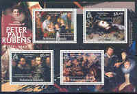 SOLOMON ISLANDS 2012 PETER PAUL RUBENS 435TH ANNIVERSARY SHEET OF FOUR STAMPS
