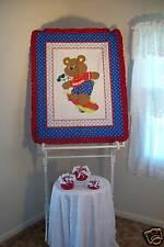 SKATEBOARD TEDDY BABY QUILT/NURSERY BEDDING/STORAGE JAR