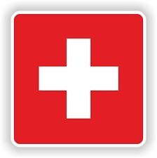 Flag Sticker of Switzerland Bumper Decal Helmet Truck Motorcycle Car Door Swiss