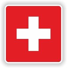drapeau Autocollant de Suisse PARE-CHOC CASQUE CAMION MOTO VOITURE PORTE