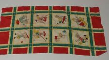 Vintage Boy Scarf Swimming Fishing Tennis Gunfighting Etc.