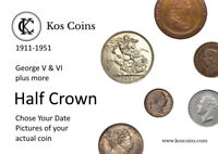 1846 - 1951 Half crown GEORGE V & VI +more Half crown SILVER& Cn Chose your coin