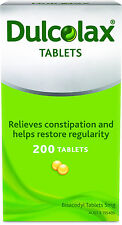 Dulcolax 200 Tablets 5mg  Bisacodyl Laxative *Relieves Constipation