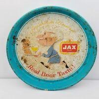 """Jax Draft Beer Vintage 13"""" Beer Tray Jackson Brewery New Orleans Louisiana"""