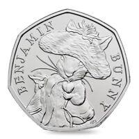 Rare Beatrix Potter Benjamin Bunny Coin 50p fifty pence uncirculated 2017