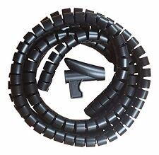 Cable Ordenado Kit en Negro 2.5 metros de largo herramienta de aplicación incluidas Gratis P&P