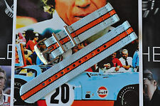 22mm Porsche Lemans Steve McQueen Gulf Racing 2-Piece Strap Watch Band 316 Steel