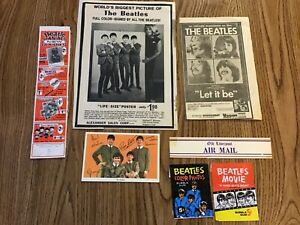 The Beatles memorabilia lot USA including card wrappers1960's in very good cond