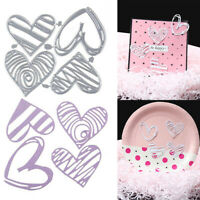4X Heart Metal Cutting Dies Scrapbooking Embossing Stencil DIY Paper Cards  Dz