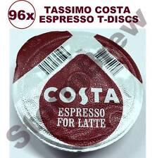 96x TASSIMO COSTA ESPRESSO COFFEE T-DISCS (LOOSE) EXPRESSO PODS LATTE