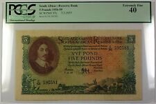 1954-59 7.3.1957 South Africa 5 Pounds Bank Note SCWPM# 97c PCGS EF-40 (B)