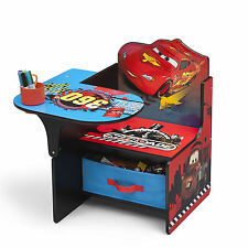 DELTA CHILDREN DISNEY CARS CHAIR DESK WITH STORAGE BIN KIDS STUDY PLAYROOM DESK