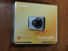 New Open Box - Canon PowerShot A490 10.0MP Camera - Silver 4258B001 013803120059