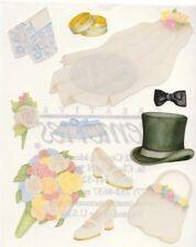 NEW Creative Memories BLOCK STICKER - Wedding Sticker - Veil, Shoes, Bouquet