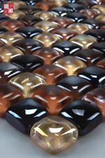 piastrelle in vetro a mosaico giallo arancione EFFETTO NERO 10mm 30x30