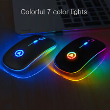 Rechargeable Gaming Mouse Wireless Silent LED Backlit USB Optical Ergonomic