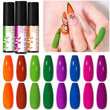 MEET ACROSS 5ml Neon Color Gel Nail Polish Soak Off UV Gel Varnish Manicure DIY