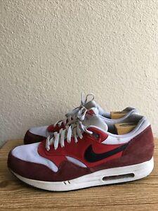 Nike Air Max 1 Essential 2014 537383-116 University Red Black White Men's Sz 13