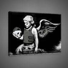 Canvas Poster Foto Bild Wandbild Leinwandbild BANKSY STREET ART ENGEL 3FX2031O4