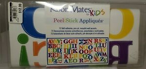 RoomMates RAINBOW Colored ALPHABET 73 Wall Stickers Kids Name Letters Decals NIP