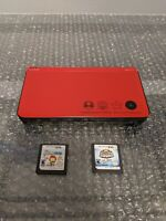 Nintendo DSi XL Super Mario Bros 25th Anniversary Edition Working +Charger/Games