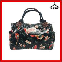 Cath Kidston Oilcloth Garden Birds Dark Blue Grab Bag Handbag Bag Tote Bag E2